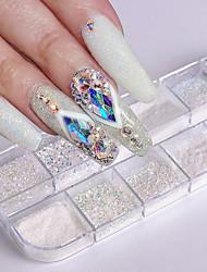 Недорогие -1шт Искусственные советы для ногтей Блеск Модный дизайн / Светящийся маникюр Маникюр педикюр Ретро Свадебные прием / На каждый день