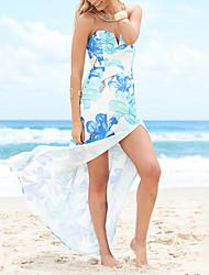 cheap -women's loose swing dress maxi strapless