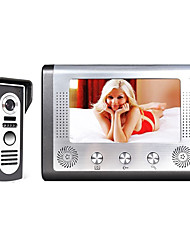 billiga -MOUNTAINONE M801M11 7 Inch Video Door Phone Doorbell Intercom Kabel 7 tum Hands-free 480*234*3 pixel En till En Video Porttelefonen