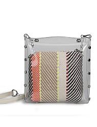 baratos -Mulheres Bolsas PVC Conjuntos de saco 2 Pcs Purse Set Ziper Rosa / Bege