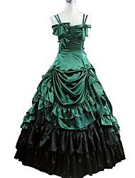 abordables -Lolita Cosplay / Gótico Disfraz Mujer Accesorios / Ropa de Fiesta Verde / negro Cosecha Cosplay 50% Algodón / 50% Poliéster Manga Larga Julieta