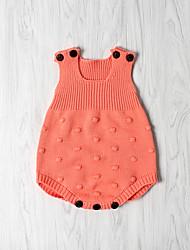 Недорогие -малыш Девочки С принтом Без рукавов Bodysuit