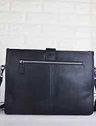 Недорогие -мужские сумки наппа кожаная сумка на молнию черный