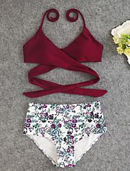 cheap -Women's Bikini - Floral Tropical Leaf, Print Briefs