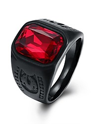 cheap -Men's Vintage Style / 3D Band Ring - Stainless Creative Vintage, Punk 8 / 9 Red For Daily / Street
