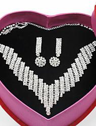 abordables -Mujer Clásico / Elegante Conjunto de joyas - Precioso, Suerte Elegante, Clásico Incluir Collares de cadena Plata Para Boda / Fiesta