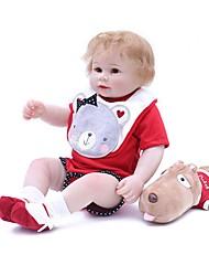 Недорогие -OtardDolls Куклы реборн Мальчики 18 дюймовый как живой Ручная работа Искусственная имплантация Коричневые глаза Детские Мальчики / Девочки Игрушки Подарок