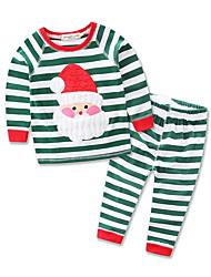 Недорогие -Дети (1-4 лет) Мальчики Полоски Длинный рукав Набор одежды