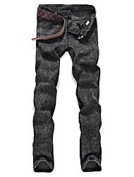 cheap -men's slim jeans pants - solid colored
