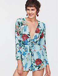 preiswerte -Damen Grundlegend Chiffon Kleid Solide / Blumen Mini