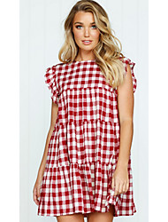 cheap -women's going out a line dress above knee