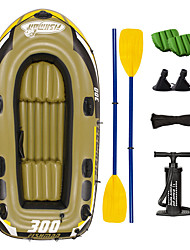 cheap -JiLong 3-4 Persons Inflatable Boat Set with Hand Air Pump, Air Pad, French Oars PVC Portable folding Fishing / Boating 252*125*40 cm