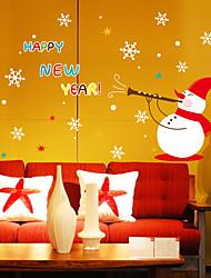 economico -Adesivi decorativi da parete - Adesivi 3D da parete Paesaggi / Natale Salotto / Camera da letto / Bagno