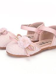 abordables -Fille Chaussures Polyuréthane Printemps & Automne Premières Chaussures Ballerines Scotch Magique pour Bébé Noir / Argent / Rose dragée clair / Soirée & Evénement