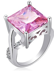 cheap -Women's Cubic Zirconia Stack Ring - Elegant 6 / 7 / 8 Purple / Pink For Evening Party / Office & Career