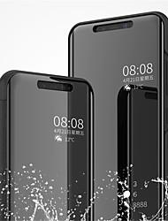 Недорогие -Кейс для Назначение Xiaomi Mi 8 / Mi 8 SE со стендом / Покрытие / Зеркальная поверхность Чехол Однотонный Твердый Кожа PU для Xiaomi Mi 8 / Xiaomi Mi 8 SE