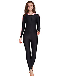 cheap -SBART Women's Rash Guard Dive Skin Suit Quick Dry, Wearable, Comfortable Nylon Full Body Swimwear Beach Wear Diving Suit Solid Colored Front Zip Watersports / High Elasticity