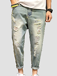 cheap -Men's Slim Jeans Pants - Color Block / Weekend