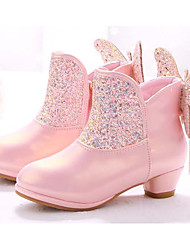 cheap -Girls' Shoes Synthetics Spring / Fall Comfort / Fashion Boots Boots for White / Pink