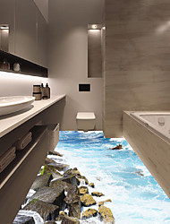 Недорогие -Напольные наклейки - 3D наклейки Пейзаж Гостиная / Спальня / Ванная комната