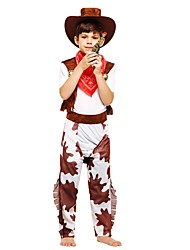 baratos -Fantasias Roupa Para Meninos Dia Das Bruxas / Carnaval / Dia da Criança Festival / Celebração Trajes da Noite das Bruxas Marron Sólido / Halloween Dia Das Bruxas