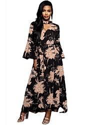 cheap -Women's Slim Sheath Dress Maxi V Neck