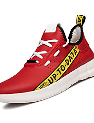 cheap -Men's Satin Summer Comfort Athletic Shoes White / Black / Red