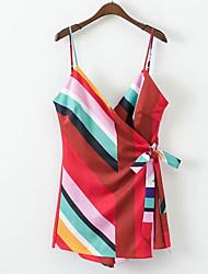 povoljno -Žene Osnovni Korice Haljina - Print, Color block Iznad koljena