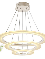 cheap -Modern Electrodeless Dimming Acrylic Simplicity LED Pendant Lights Three Rings Indoor Light For Living Room Bedroom Restaurant