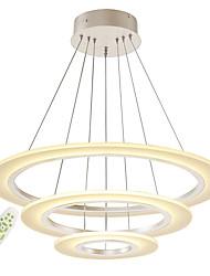 Недорогие -современная безэлектродная диммер акриловая простота привело подвесные светильники три кольца закрытый свет для гостиной спальня ресторан