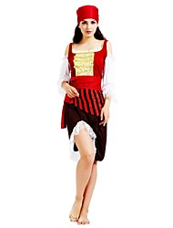 cheap -Pirates of the Caribbean Costume Women's Halloween / Carnival / Children's Day Festival / Holiday Halloween Costumes Rose Solid Colored / Striped / Halloween Halloween