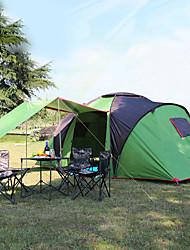 Недорогие -Hewolf 6 человек Туристическая палатка-хижина Семейный кемпинг-палатка На открытом воздухе С защитой от ветра Дожденепроницаемый UPF50+ Двухслойные зонты Карниза Палатка Трехкомнатная >3000 mm для