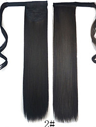 cheap -Toupee Headpiece Women / Wrap Around / Tie Up Synthetic Hair Hair Piece Hair Extension Straight 18 inch Dailywear