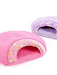 cheap -Soft / Casual / Daily Dog Clothes Bed Leopard Purple / Brown / Pink Dogs / Cats