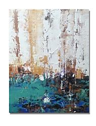 Недорогие -styledecor® современная ручная роспись абстрактного белого и зеленого цвета на коричневом фоне Масляная картина на холсте для настенного искусства, готовая повесить искусство
