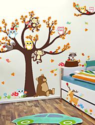 abordables -Autocollants muraux décoratifs - Autocollants muraux animaux Animaux / A fleurs / Botanique Salle de séjour / Chambre à coucher / Salle de bain