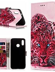 abordables -Coque Pour Huawei P20 / P20 lite Portefeuille / Porte Carte / Avec Support Coque Intégrale Animal Dur faux cuir pour Huawei P20 / Huawei P20 Pro / Huawei P20 lite
