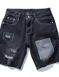 cheap -Men's Basic Jeans / Shorts Pants - Color Block Patchwork