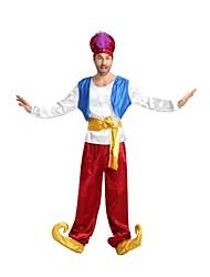 baratos -Piratas do Caribe Roupa Homens Dia Das Bruxas / Carnaval / Dia da Criança Festival / Celebração Trajes da Noite das Bruxas Branco Sólido / Halloween Dia Das Bruxas
