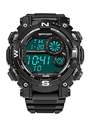 Недорогие -SANDA Муж. Спортивные часы / электронные часы Японский Календарь / Защита от влаги / Новый дизайн Plastic Группа Роскошь / Мода Черный