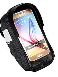 abordables -Sac de téléphone portable / Sac de cadre de vélo 9.5 pouce Ecran tactile, Bandes Réfléchissantes Cyclisme pour Cyclisme / Tous Téléphone Portable Noir / 600D Polyester