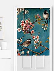 abordables -Panneau de porte Rideaux rideaux Cuisine Fleur / Moderne Coton / Polyester Imprimé