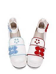 economico -Scarpe Dolce / Lolita Classica e Tradizionale Principessa Scarpe Ricamato 8 cm CM Blu / Rosso Per PU
