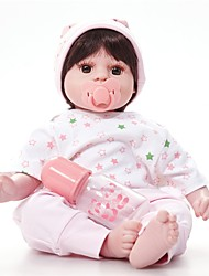 baratos -FeelWind Bonecas Reborn Bebês Meninas 20 polegada realista, Nozes vedadas e seladas, Olhos Castanhos de Implantação Artificial de Criança Para Meninas Dom
