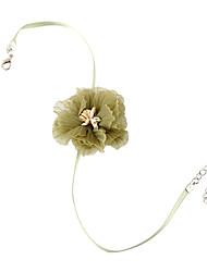 baratos -Mulheres Fashion Gargantilhas - Renda Flor Doce, Fashion, Elegante Verde Claro 38 cm Colar Jóias 1pç Para Casual, Diário