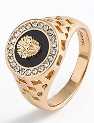 cheap -Men's Lasso Ring - Rhinestone Animal Stylish, Classic 7 / 8 / 9 / 10 Gold / Silver For Daily