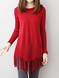 Недорогие -Жен. Уличный стиль / Изысканный Пуловер - Геометрический принт