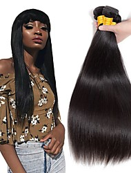 cheap -3 Bundles Indian Hair Straight Human Hair Natural Color Hair Weaves / Hair Bulk / One Pack Solution / Human Hair Extensions 8-28 inch Natural Color Human Hair Weaves Best Quality / New Arrival / Hot