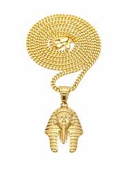 cheap -Men's Cubic Zirconia Stylish / Cuban Link Pendant Necklace / Chain Necklace - Stainless Creative, Head Unique Design, European, Hip-Hop Gold 60 cm Necklace 1pc For Street, Festival