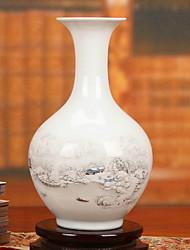 baratos -Flores artificiais 1 Ramo Clássico Tradicional Vaso Flor de Mesa